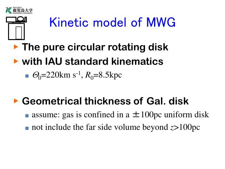 Kinetic model of MWG