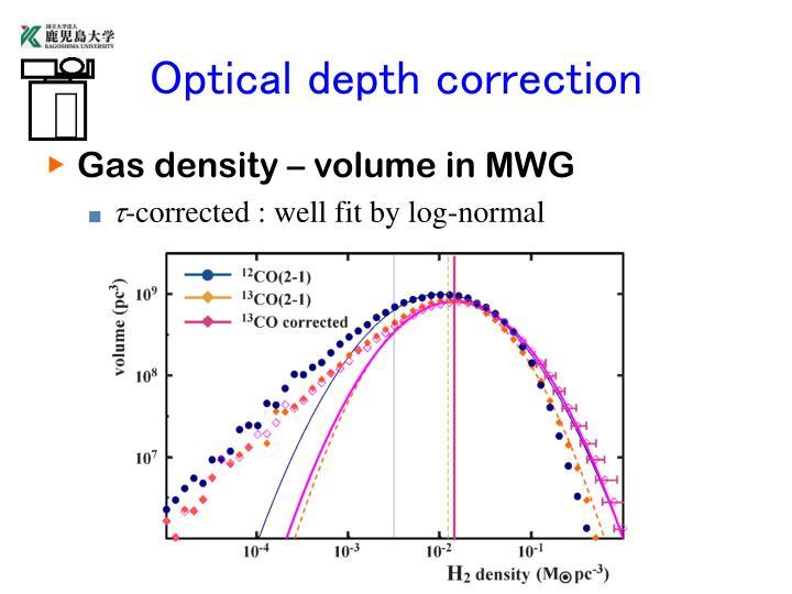 Optical depth correction