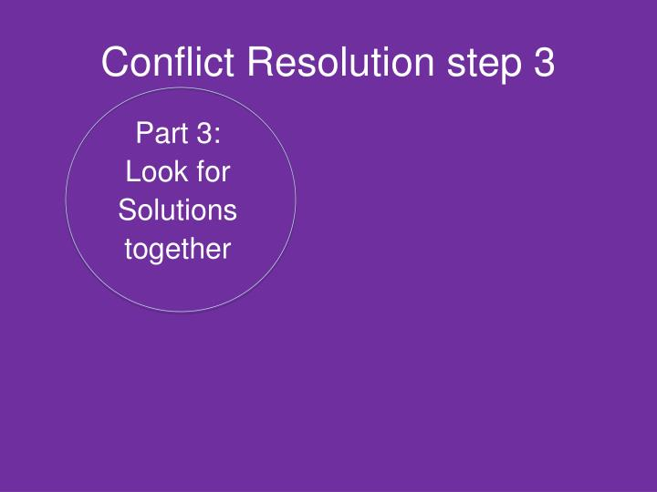 Conflict Resolution step 3