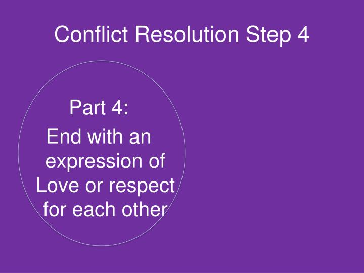Conflict Resolution Step 4