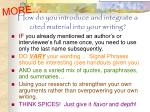 how do you introduce and integrate a cited material into your writing1