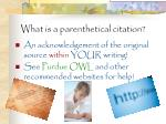 what is a parenthetical citation