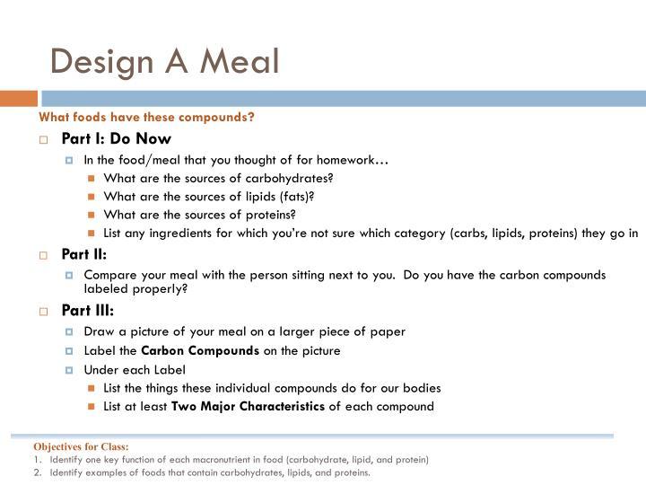 Design A Meal