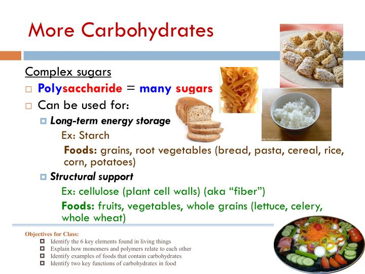 More Carbohydrates
