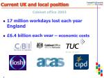 current uk and local position