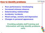 how to identify problems