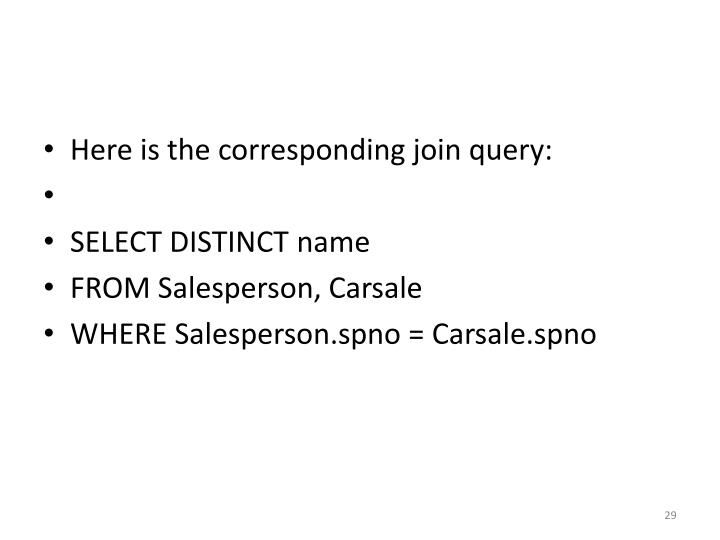 Here is the corresponding join query: