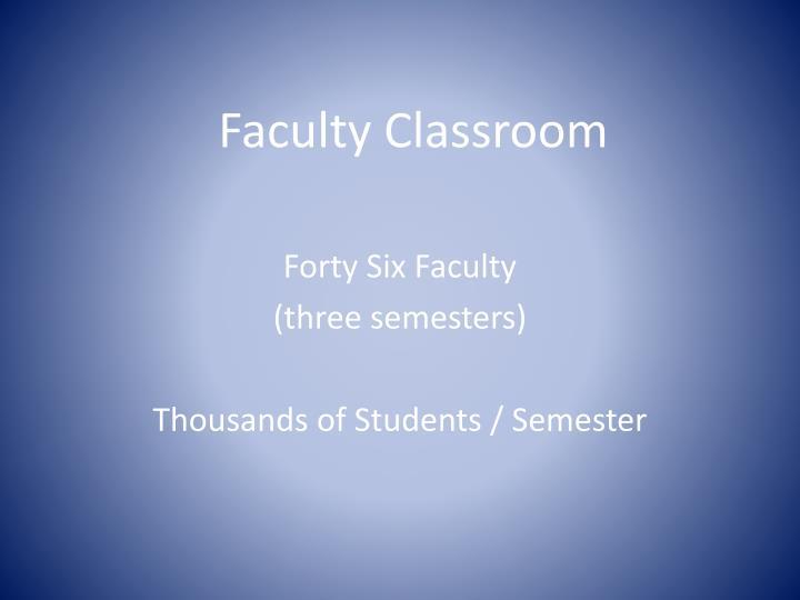 Faculty Classroom