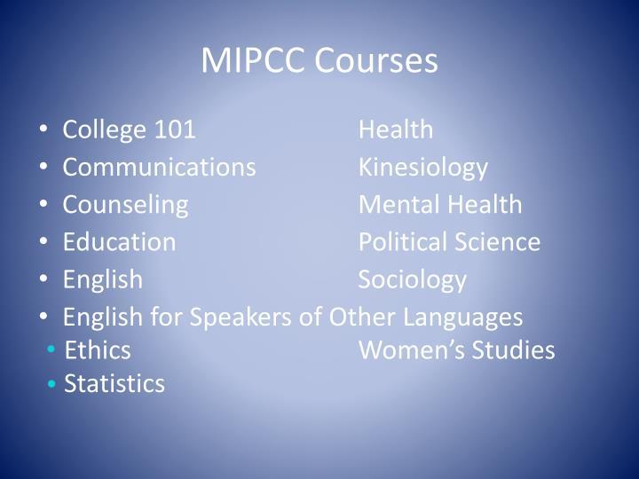 MIPCC Courses