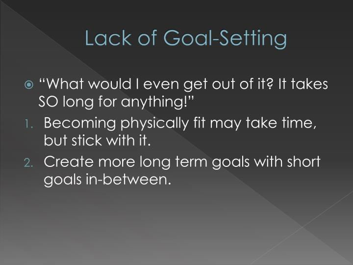Lack of Goal-Setting