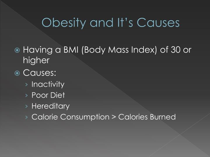 Obesity and it s causes