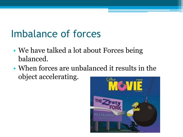 Imbalance of forces