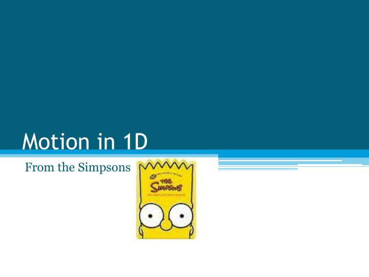 Motion in 1d