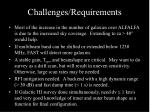 challenges requirements