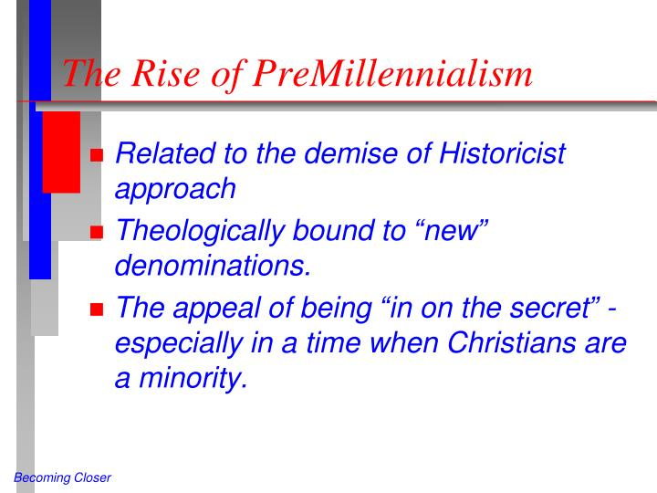 The rise of premillennialism