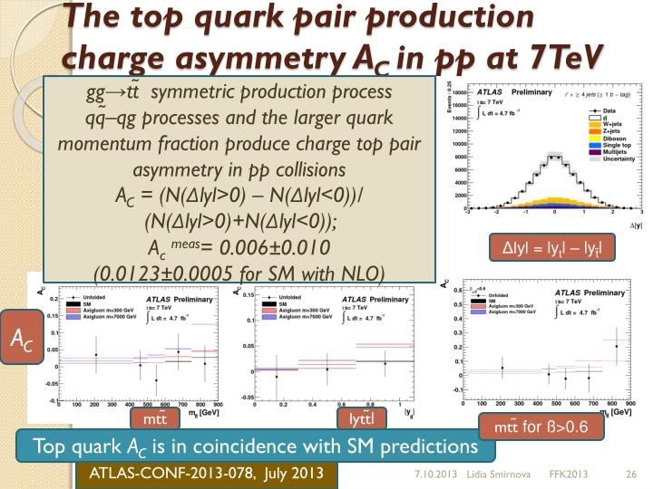 The top quark pair production charge asymmetry A