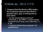 problem pp 355 6 c t d