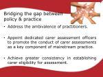 bridging the gap between policy practice