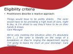 eligibility criteria1