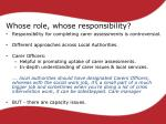 whose role whose responsibility