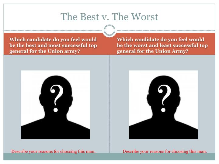 The Best v. The Worst