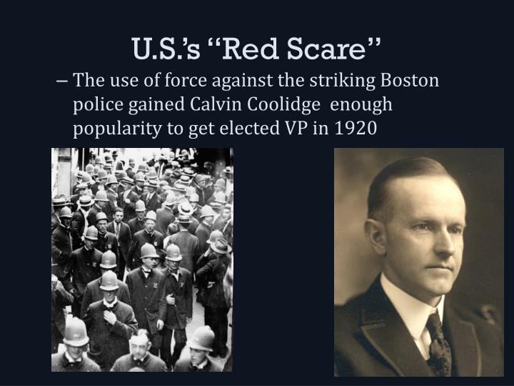 "U.S.'s ""Red Scare"""