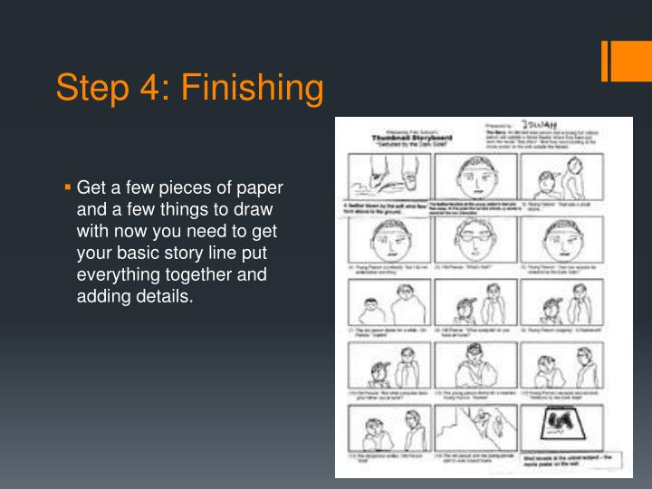 Step 4: Finishing