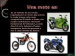 una moto es
