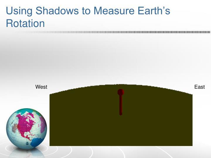 Using shadows to measure earth s rotation