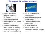 strategies for career success