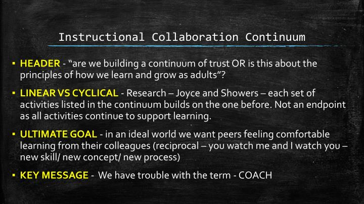 Instructional Collaboration Continuum