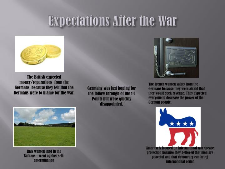 Expectations After the War