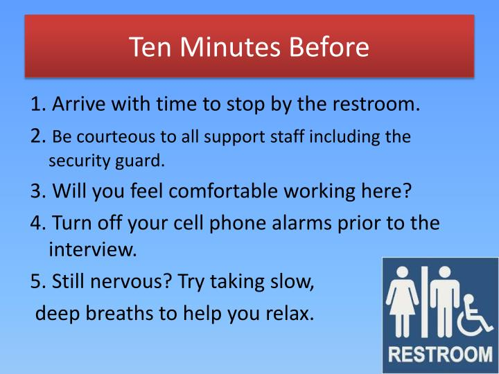 Ten Minutes Before