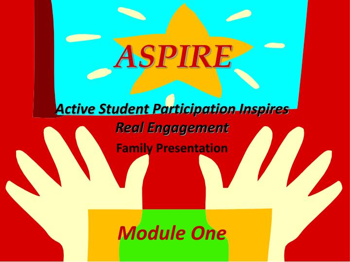 Aspire active student participation inspires real engagement family presentation module one