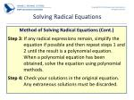 solving radical equations1