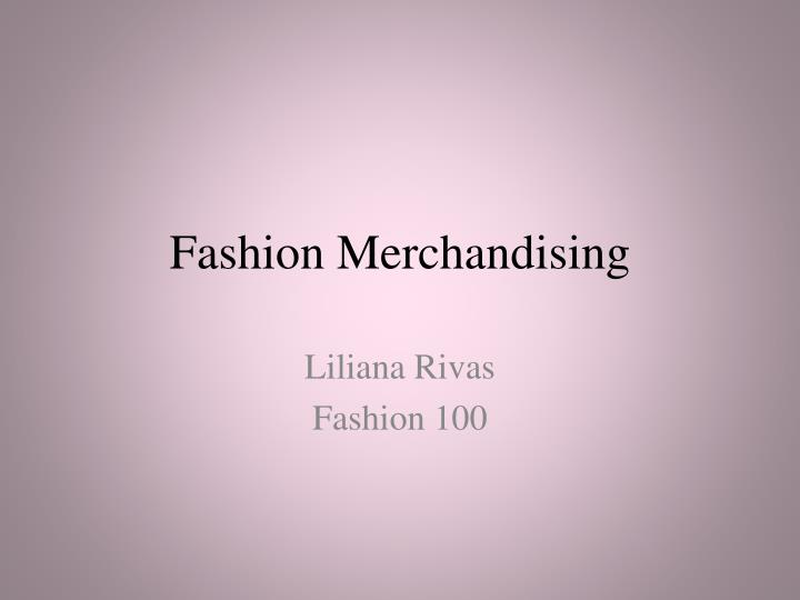 fashion merchandising n.