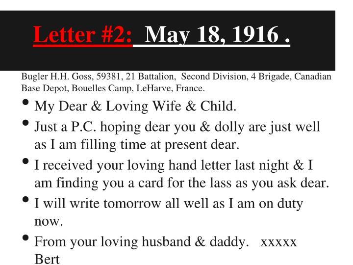 Letter #2: