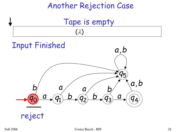Another Rejection Case