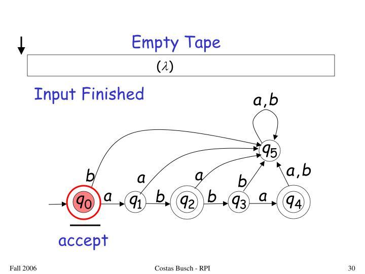 Empty Tape