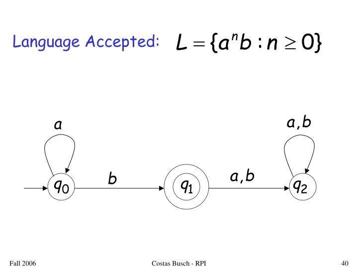 Language Accepted: