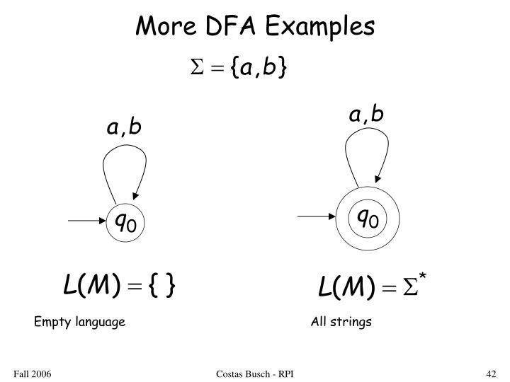 More DFA Examples