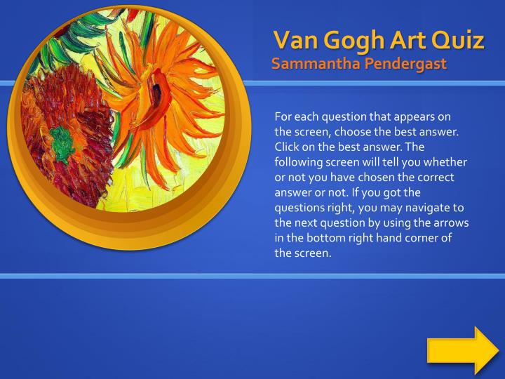 Van gogh art quiz
