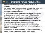 emerging power fortunes xii