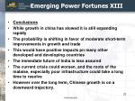 emerging power fortunes xiii
