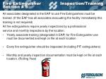fire extinguisher inspection training section 6