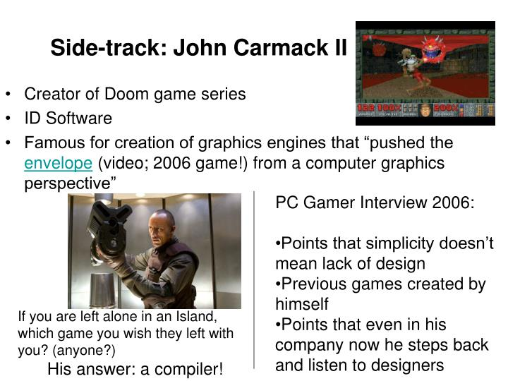 PC Gamer Interview 2006: