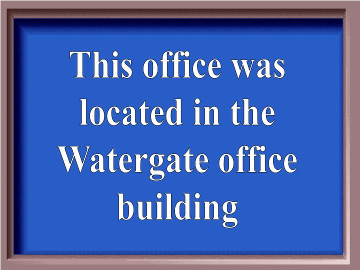 This office was