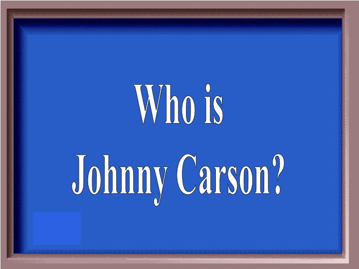 Who is