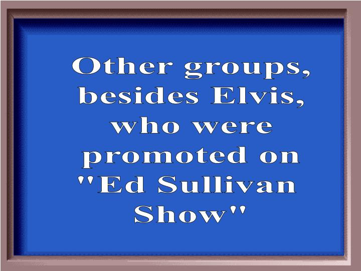 Other groups,