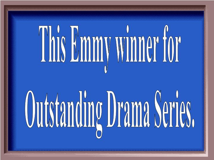 This Emmy winner for